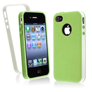 BasAcc Green/ White Trim TPU Case for Apple iPhone 4/ 4S
