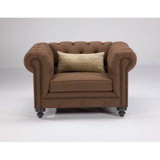 JAR Designs 'Alphonse Tufted' Chocolate Chair