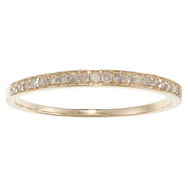 10k Yellow Gold 1/6ct TDW Diamond Pave Band (G-H, I1-I2)