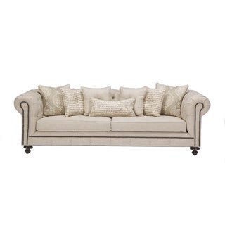 JAR Designs 'Alphonse Tufted' Barley Sofa