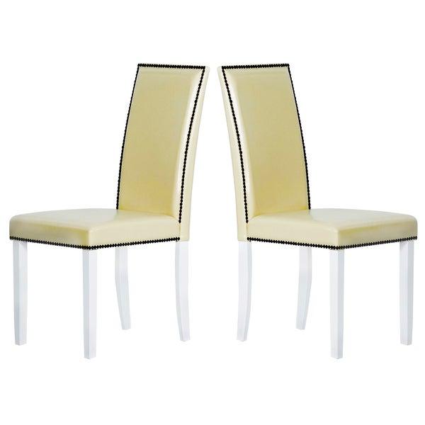 Warehouse of Tiffany Blazing Cream Dining Chairs (Set of 2)