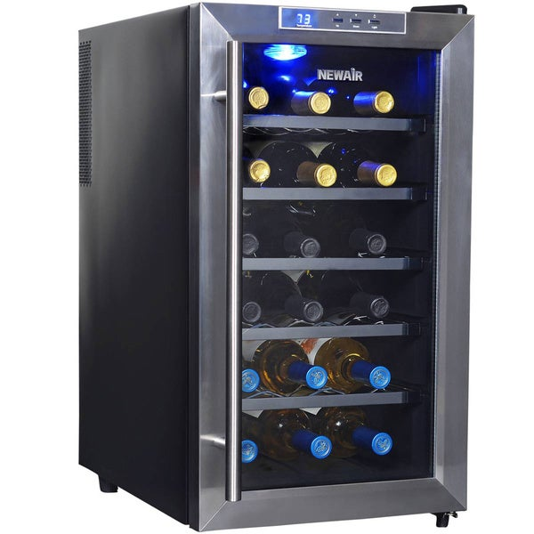 Newair appliances thermoelectric 18 bottle wine cooler for Modern homes 8 bottle wine cooler