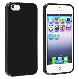 INSTEN Black Jelly TPU Phone Case Cover for Apple iPhone 5/ 5S