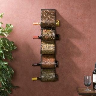 Upton Home Valorian Metal Wall Mount Wine Rack Sculpture