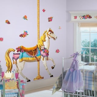 Carousel Horse Peel & Stick Giant Wall Decals