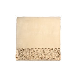 Solid Bamboo 50 x 70 Cream Throw