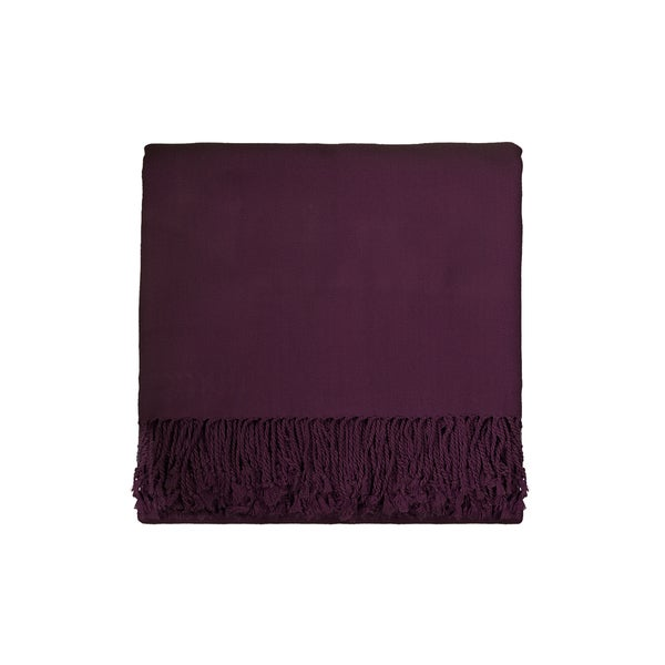 Solid Bamboo 50 x 70 Plum Throw