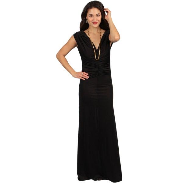 Tabeez Women's Center Shirred Jersey Dress