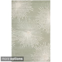 Safavieh Handmade Soho Burst Grey New Zealand Wool Rug