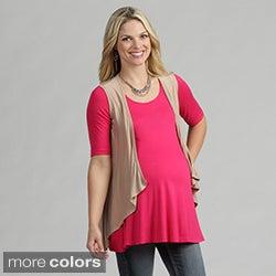 24/7 Comfort Apparel Women's Maternity Sleeveless Shrug