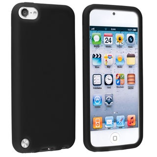 Insten Black Silicone Skin Gel Rubber Case Cover For Apple iPod Touch 5th/ 6th Gen