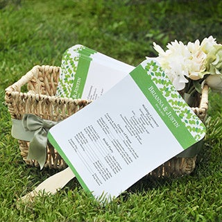 DIY Designer Fan Program Paper Kit
