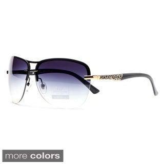 DASEIN by Anais Gvani Women's Rimless Rhinestone Accent Sunglasses