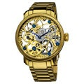 Akribos XXIV Men's Stainless Mechanical Skeleton Bracelet Watch