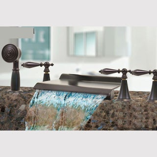 Kokols Oil Rubbed Bronze Waterfall Bath Tub Shower Faucet Set