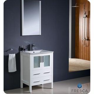 Fresca Torino 24-inch White Modern Bathroom Vanity with Undermount Sink