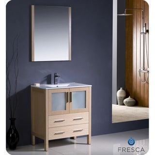 Fresca Torino 30-inch Light Oak Modern Bathroom Vanity with Undermount Sink
