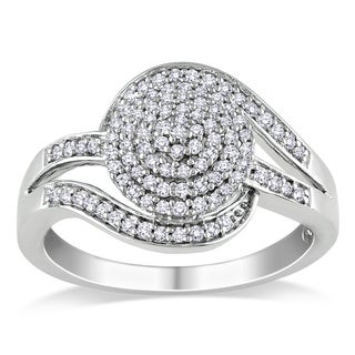 Haylee Jewels Sterling Silver 1/3ct TDW Diamond Ring (H-I, I2-I3)