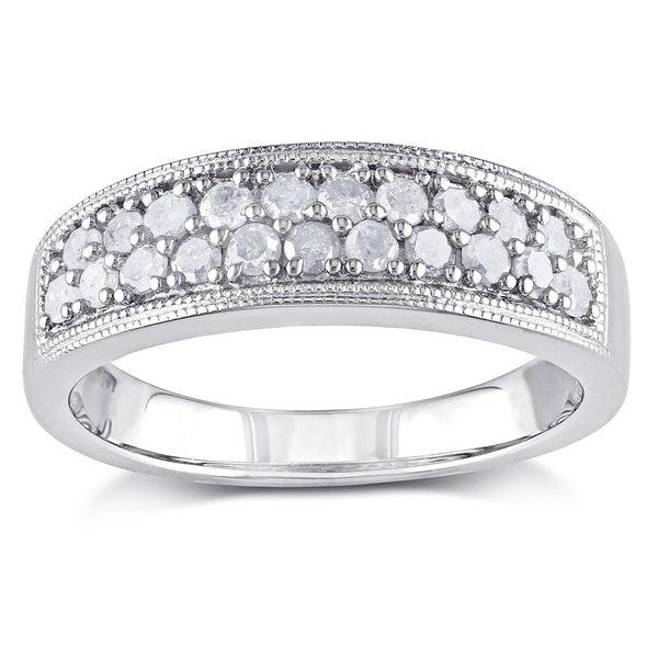 Haylee Jewels Sterling Silver 1/2ct TDW Diamond Ring (I-J, I2-I3)