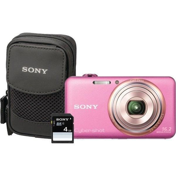 Sony Cyber-shot DSC-WX70 16.2MP Pink Digital Camera Kit