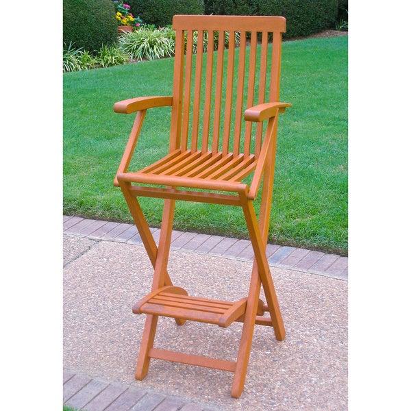 international caravan royal tahiti yellow balau bar height folding arm chairs set of 2. Black Bedroom Furniture Sets. Home Design Ideas