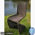Contemporary Resin Wicker Outdoor Chairs (Set of 2)