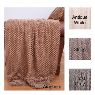 Alessandra Twisted 50 x 60-inch Faux Fur Throw
