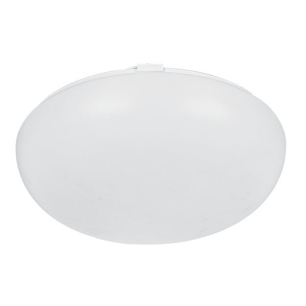 Electronic Mushroom 1-light White Flush Mount