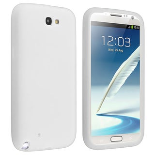 BasAcc Solid White Silicone Skin Case for Samsung© Galaxy Note 2 N7100