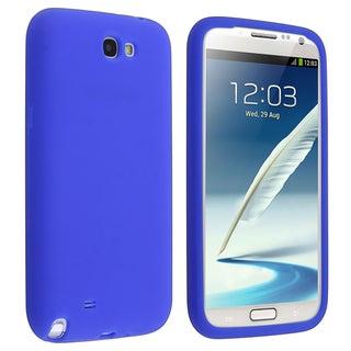 BasAcc Blue Silicone Skin Case for Samsung© Galaxy Note 2 N7100