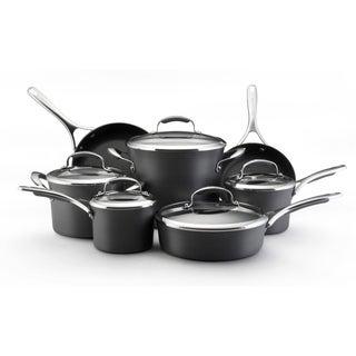 KitchenAid Gourmet Hard-anodized Nonstick 12-piece Grey Cookware Set