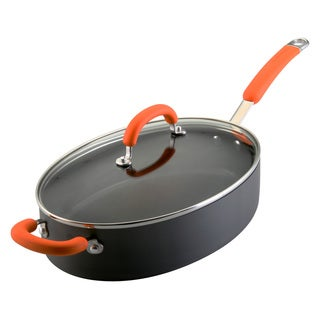 Rachael Ray Hard-anodized 5-quart Oval Saute with Helper Handle