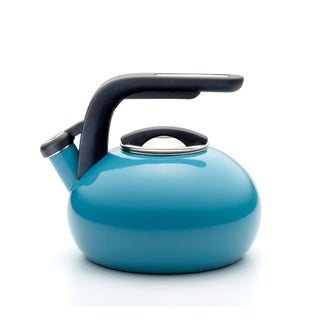 KitchenAid Peacock Porcelain Enameled Whistling 2-quart Tea Kettle
