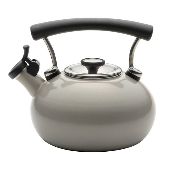 Circulon 25th Anniversary Warm Silver Whistling 2-quart Tea Kettle