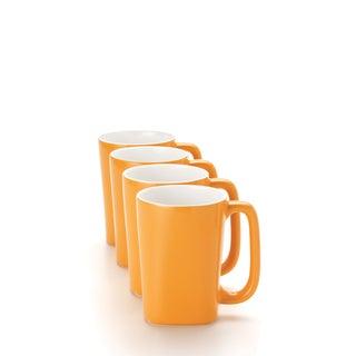 Rachael Ray 'Round and Square' 4-piece Lemon Zest Mug Set