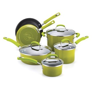 Rachael Ray Porcelain II Green 10-piece Cookware Set **with $20 Mail-in Rebate**
