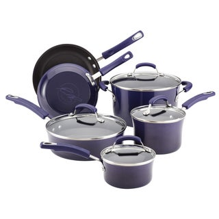 Rachael Ray Porcelain II Purple 10-piece Cookware Set **with $20 Mail-in Rebate**