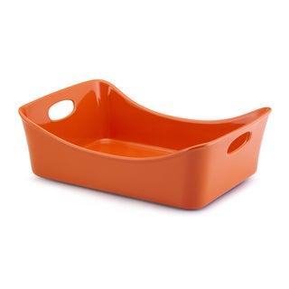 Rachael Ray Stoneware Orange 9x13-inch Lasagna Lover Roaster