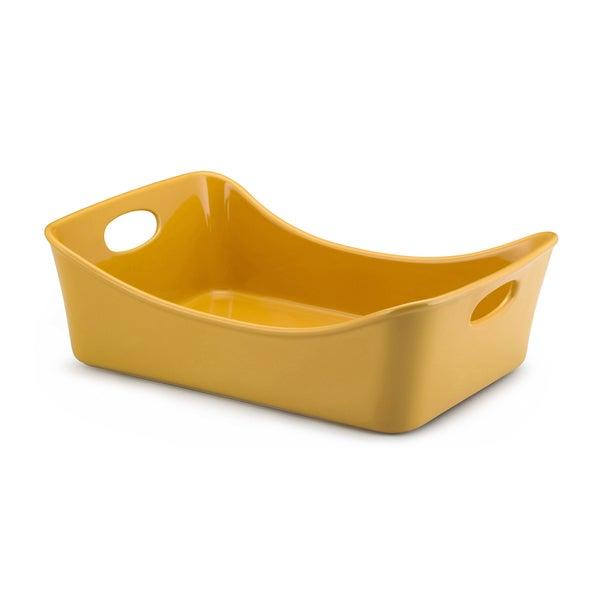 Rachael Ray Stoneware Yellow 9x13-inch Lasagna Lover Roaster
