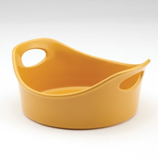 Rachael Ray Stoneware 1.5-Quart Yellow Open Baker