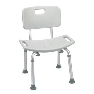 Grey Bathroom Safety Shower Tub Bench Chair with Back