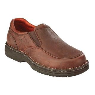AdTec Men's Chestnut Leather Slip-on Shoes