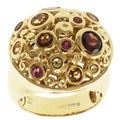Michael Valitutti Jason Dow Two-tone Multi-gemstone Ring