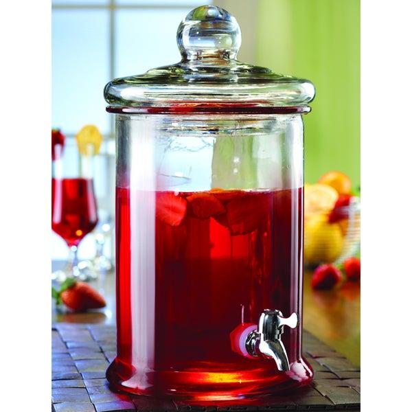 Style Setter Norfolk Glass Crystal 5-liter Beverage Dispenser
