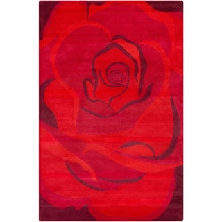 Filament Red Wool Rug (5' x 7'6)
