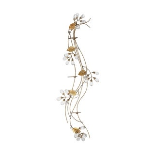 Elements 30-Inch Gold Gem Flower Three-Light Sconce