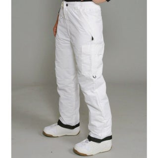 Pulse Women's White Cargo Snowboard Pants