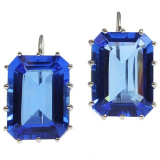 Michael Valitutti Sterling Silver Blue Quartz Earrings