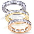 14k Gold 3ct TDW Princess Diamond Eternity Ring (H-I, I1-I2)