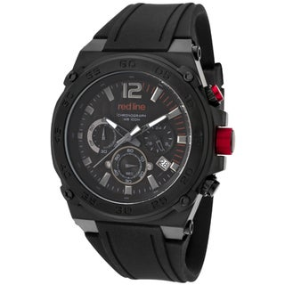 Red Line Men's 'Activator' Black Silicone Watch